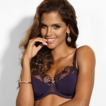 Bras  Good Girl - Deep Purple Sheer Bra Plus Sizes