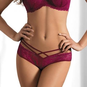 Panties Spicy Salsa - Maroon Strappy Bikini Panties