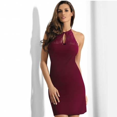 Spicy Salsa - Maroon Lace Chemise