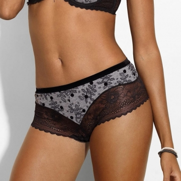 Silver Star - Black Lace Hipster Panties