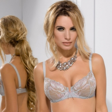 Bras  Sugar - Grey Lace Balconette Bra