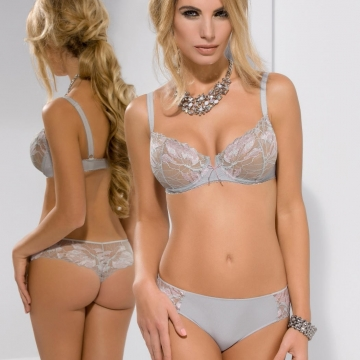 Sugar - Grey Lace Balconette Bra