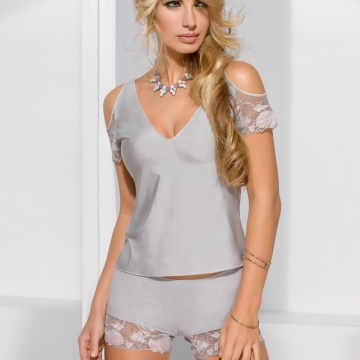 Sexy Lingerie Sugar - Grey 2 Piece Night Set