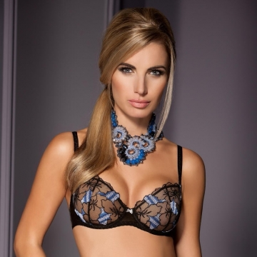 Bras  Spell - Black Sheer Balconette Bra