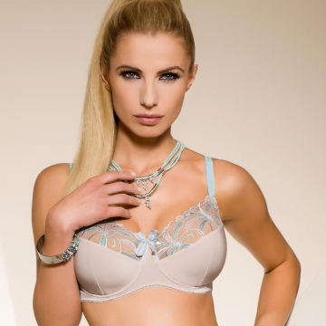 Satin Sky - Light Beige Unlined Bra Plus Sizes