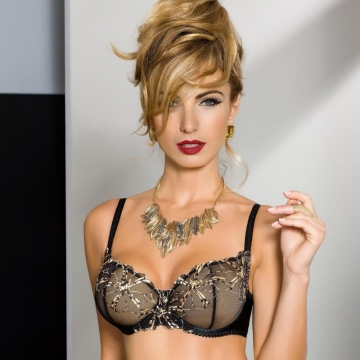 Bras  Palais - Black Sheer Balconette Bra