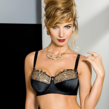 Bras  Palais - Black Sheer Bra Plus Sizes