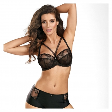Black Diamond - Lace Sheer Bra Plus Sizes