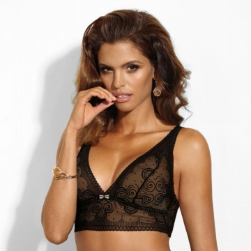 Bras  Cat Eye - Black Padded Bralette