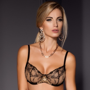 Bras  Renown - Black See Through Bra Balconette