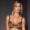 Renown - Black Sheer Balconette Bra