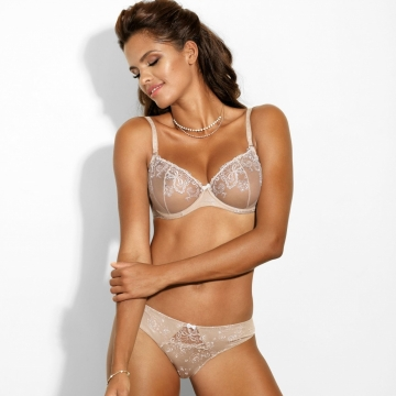 Frappe - Light Beige Sheer Balconette Bra