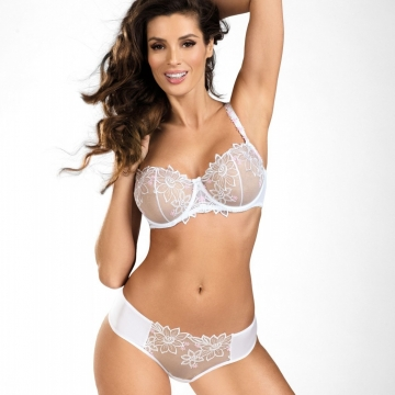 Your Angel - White Sheer Balconette Bra