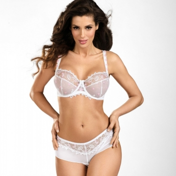 Your Angel - White Sheer Bra Plus Sizes