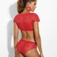 Si - Red Bolero Lace Unlined Bralette