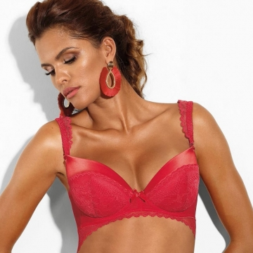 Si - Red Lace Push up Bra