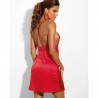 Si - Red Plunge Crossback Lace Nightie