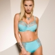 Pacific Opal - Turquoise Sheer Bra Plus Sizes