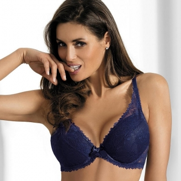 Night in Venice - Navy Blue Push up Bra