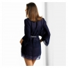 Night in Venice - Navy Blue Mesh Robe