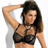 Starlight Night - Black Lace Bra Balconette
