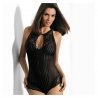 Starlight Night - Black Lace Mesh Bodysuit