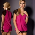 Flair - Pink Black Pajama Set