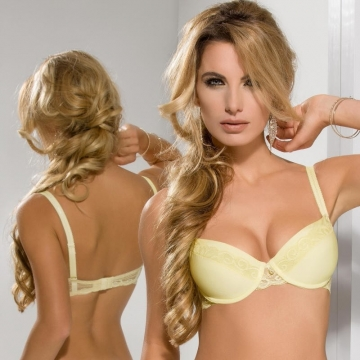 Bras  Honey - Yellow Lace Push up Bra