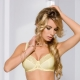 Honey - Yellow Lace Sheer Bra Plus Sizes