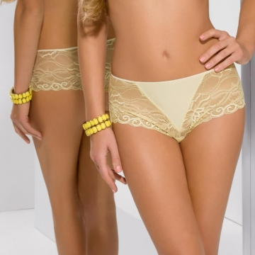 Honey - Yellow Lace Hipster Panties
