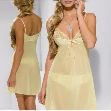 Sexy Lingerie Honey - Yellow Ultra Transparent Babydoll