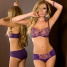 Boho - Purple Transparent Unlined Bra Balconette