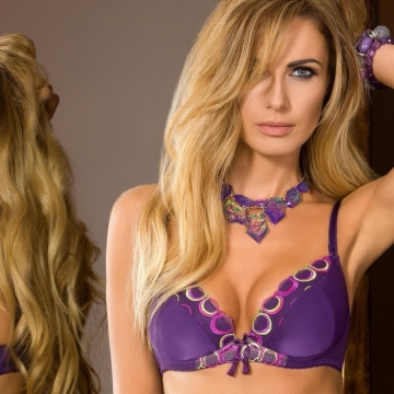 Bras  Boho - Purple Padded Push up Bra