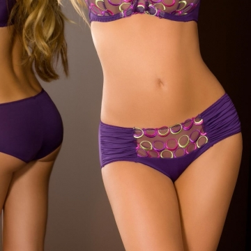 Boho - Purple Mesh Hipster Panties