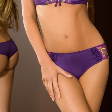 Boho - Purple Mesh Thongs
