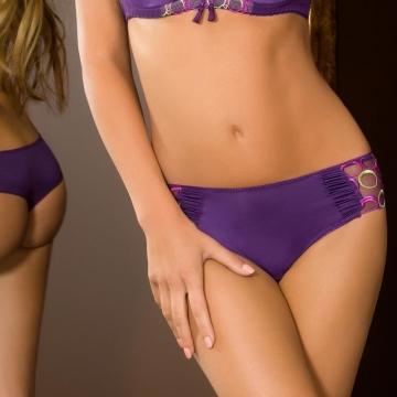 Boho - Purple Mesh Bikini Panties
