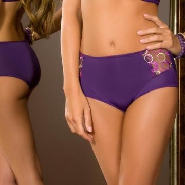 Panties Boho - Purple Mesh Bikini Maxi