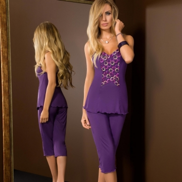 Boho - Purple Pajama Set Long
