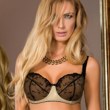 Goldie - Unlined See Through Full Figure Bra
