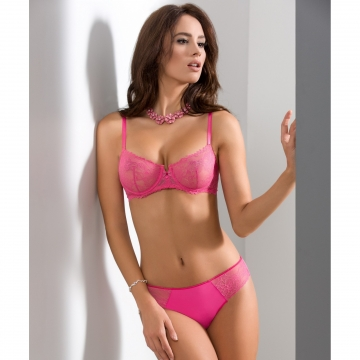 Litchi - Pink Lace See Through Bra Balconette