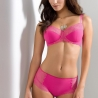 Litchi - Pink Lace Unlined Bra Plus Sizes