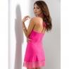 Litchi - Pink Lace Halter Chemise