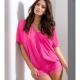 Litchi - Pink Night Shirt and Shorts Pajama