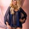 Aurora - Beige Mesh Night Shirt