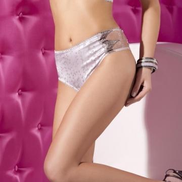Panties Whimsical - Light Beige Satin Bikini Maxi