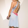 Aquila - Blue Coral Open Back Chemise