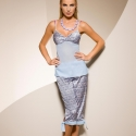 Aquila - Grey Blue Long Pants Pajama Set
