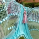 Pacific Opal - Turquoise Sheer Balconette Bra