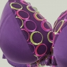 Boho - Purple Padded Push up Bra
