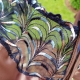 Aurora - Beige Unlined Satin and Mesh Bra Plus Sizes